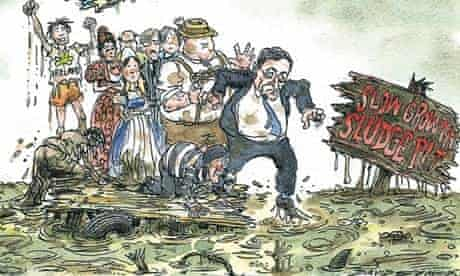 Cartoon by David Simonds, deflation threat to eurozone