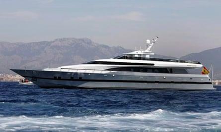 The Spanish royal yacht Fortuna