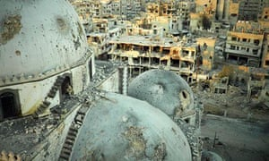 The Khaled bin Walid in Homs after Syrian army shelling, in July 20133