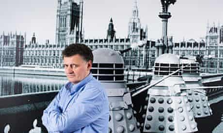 Steven Moffat at the Doctor Who HQ in London.