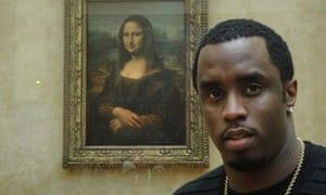 P Diddy in fron the Mona Lisa