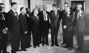 John F Kennedy and civil rights leaders