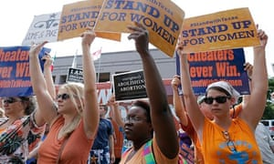 Opponents and supporters of the Texas abortion bill