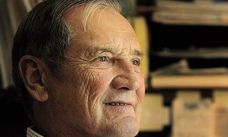 Merrill Newman, Korean War veteran, in an open-neck shirt