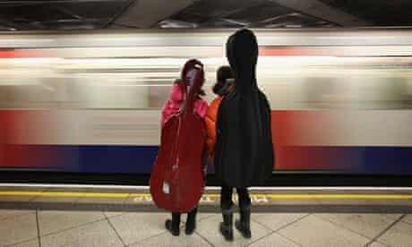 People travel on the London underground