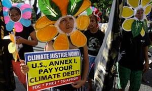 filipino climate change protest manila