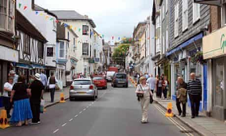 Totnes, Devon, one of five areas identified as hot spots that look set to prosper over the next five