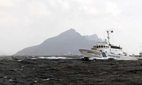 Japan coastguard ship near Senkaku islands