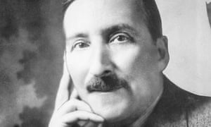 Stefan Zweig, Austrian writer. Head and shoulders portrait of Zweig with his hand on his face