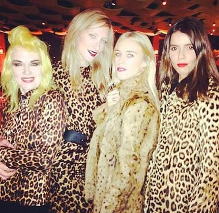 Mary Charteris and animal prints … yes!