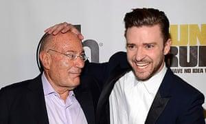 Arnon Milchan with Justin Timberlake.