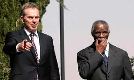 Tony Blair and Thabo Mbeki in Pretoria in 2007
