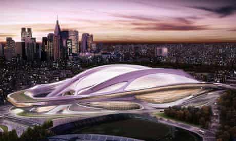 Tokyo stadium designed by Zaha Hadid