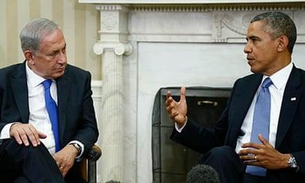 Barack Obama and Binyamin Netanyahu
