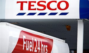 A Tesco petrol station