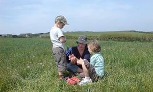 Nina Stibbe and children