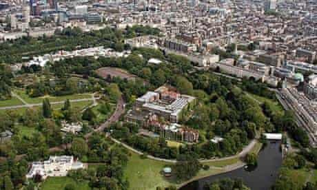 Aerial view of Regent's Park, London