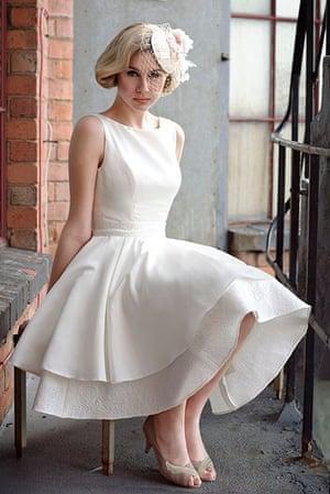Tobi Hannah's short wedding dress design