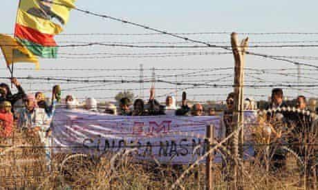 Syrian Kurds turkey border wall