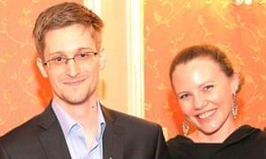 Sarah Harrison and Edward Snowden