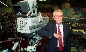John Cole next to BBC TV camera