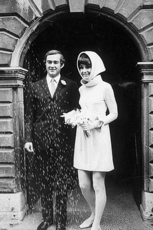 Audrey Hepburn's wedding to Dr. Dotti in 1969