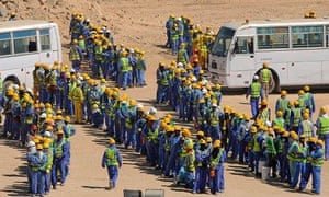 Migrant construction workers in Qatar