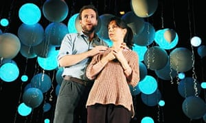 Nick Payne, Constellations: Sally Hawkins and Rafe Spall onstage