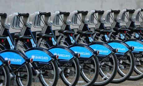 'Boris bikes' in London