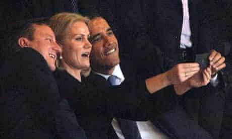 Barack Obama selfie