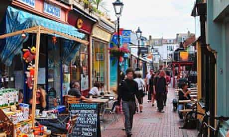 North Laine district … the classic image of Brighton.