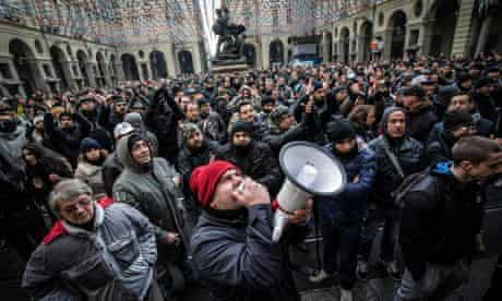 Pitchfork Movement' protest in Turin