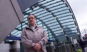 Roland Paoletti, architect, at Canary Wharf tube station