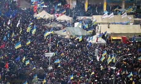 Ukrainian opposition protests in central Kiev
