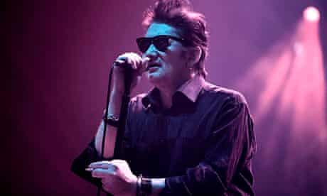 Shane MacGowan, with the Pogues at Manchester Apollo