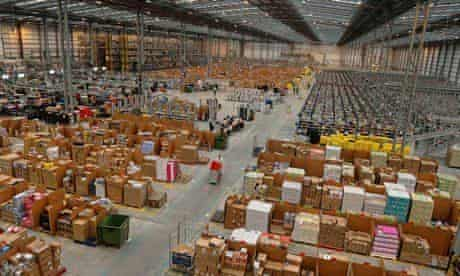 A general view of Amazon's Fulfilment Centre in Peterborough
