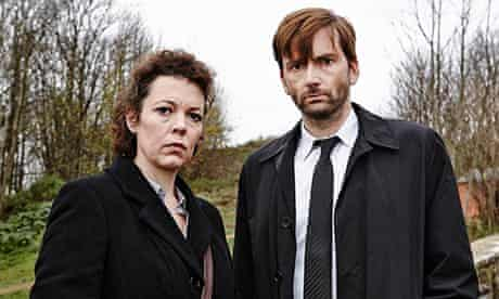 Olivia Colmanand David Tennant in Broadchurch.