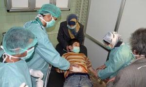 A field hospital in Aleppo