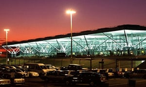 Stansted Airport, sunset