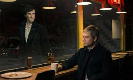 Benedict Cumberbatch (left) and Martin Freeman in Sherlock.