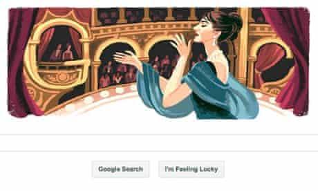 google doodle of maria callas