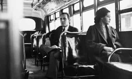 Rosa Parks riding the bus