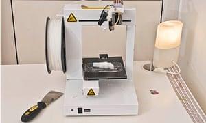The laser printer making a (fake) gun.