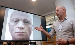 Philippe Froesch with reconstitution in 3D of the face of French revolutionary Robespierre.