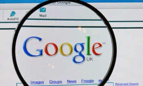Google under magnifier