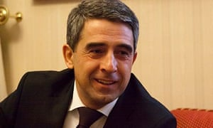 Bulgarian president Rosen Plevneliev during his interview with the Observer.