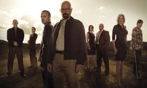 Breaking Bad: members of the cast in a PR photo