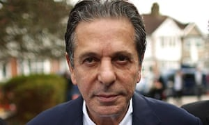 Charles Saatchi arrives at Isleworth crown court for the trial of Francesca and Elisabetta Grillo in