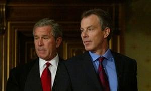 Tony Blair and George Bush