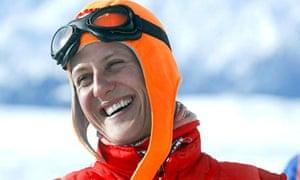 Michael Schumacher smiling in ski gear